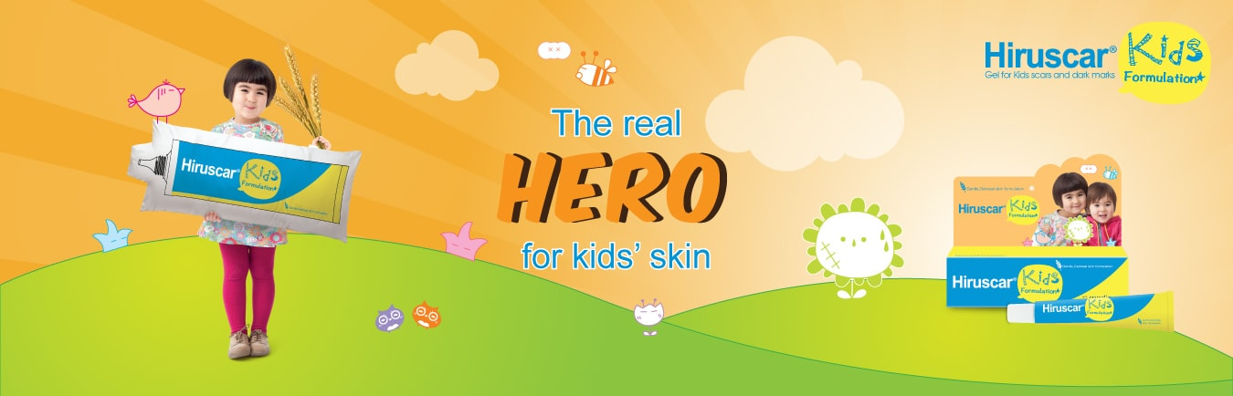 Hiruscar gel for kids scars and dark marks
