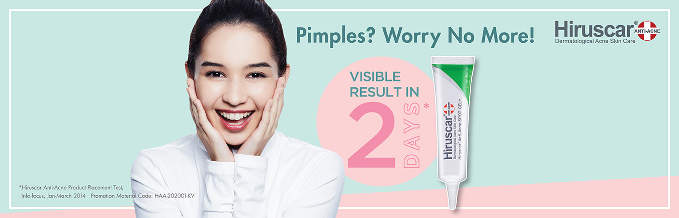 Hiruscar Dermatological Acne Skin Care banner